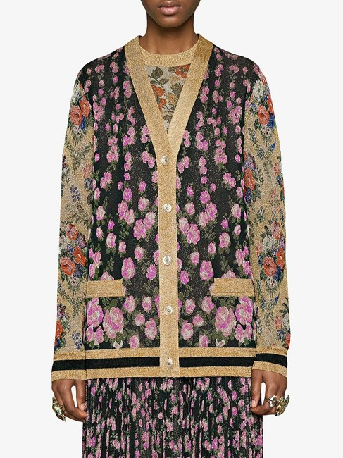 Gucci Reversible Floral Butterfly Silk Cardigan Image 2