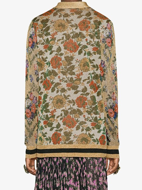 Gucci Reversible Floral Butterfly Silk Cardigan Image 4