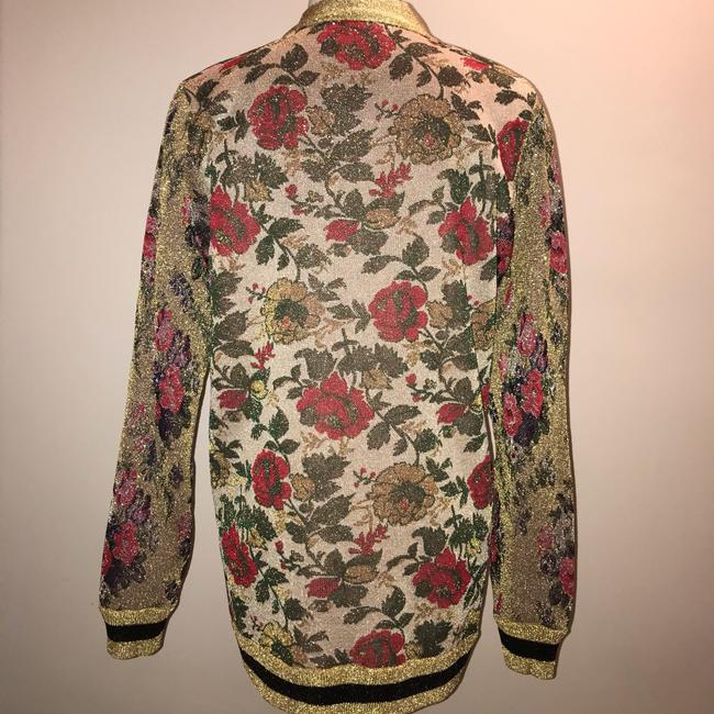 Gucci Reversible Floral Butterfly Silk Cardigan Image 5
