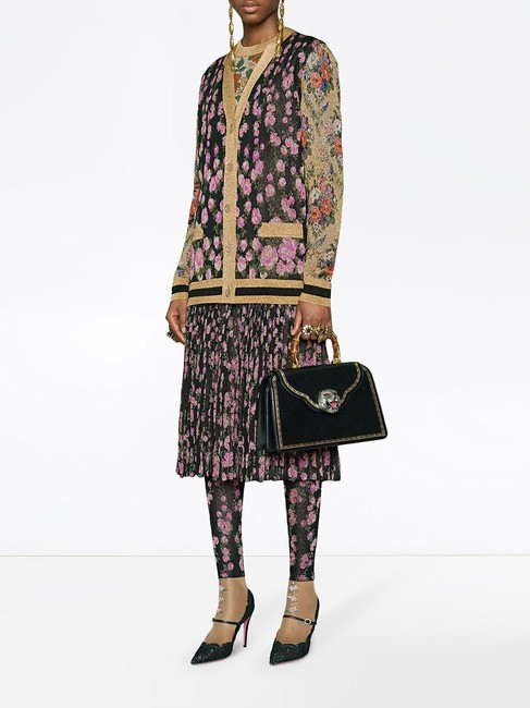Gucci Reversible Floral Butterfly Silk Cardigan Image 8
