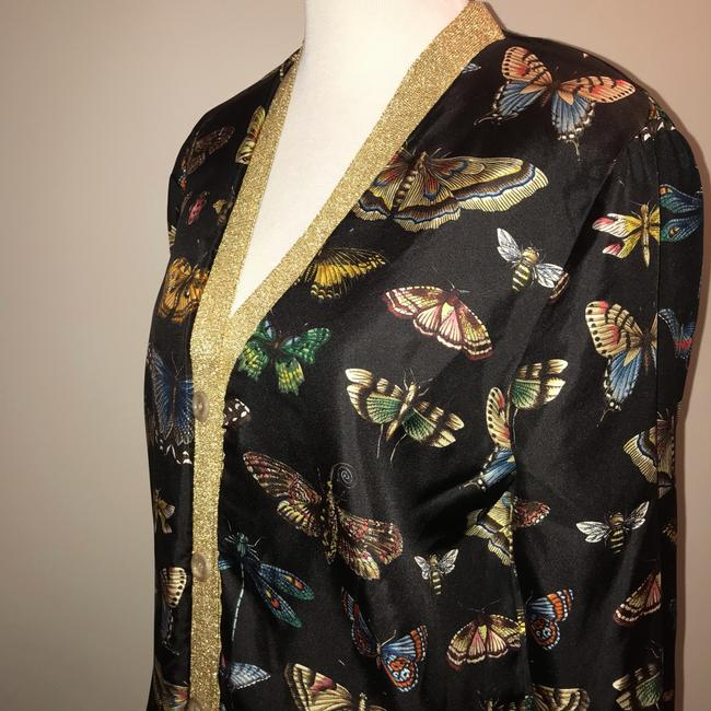 Gucci Reversible Floral Butterfly Silk Cardigan Image 9