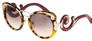 Prada PRADA WANDERER BAROQUE Swirl PR07TS Red Brown Havana Gold 07T
