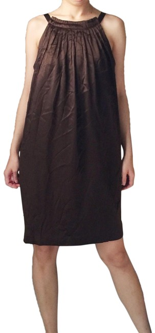 Preload https://img-static.tradesy.com/item/25600674/maggy-london-brown-silk-in-mid-length-cocktail-dress-size-petite-8-m-0-1-650-650.jpg