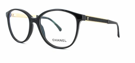 Preload https://img-static.tradesy.com/item/25600677/chanel-black-gold-ch3279-q-c622-galuchat-eyeglasses-rx-frames-51mm-51-16-140-0-0-540-540.jpg