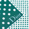 Dior Dior White with Multi Silk Fabric Polka Dot Printed Scarf Italy SMALL Image 1