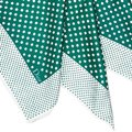 Dior Dior White with Multi Silk Fabric Polka Dot Printed Scarf Italy SMALL Image 5