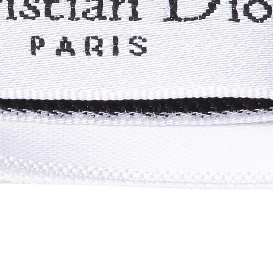Dior Dior White with Multi Silk Fabric Polka Dot Printed Scarf Italy SMALL Image 8