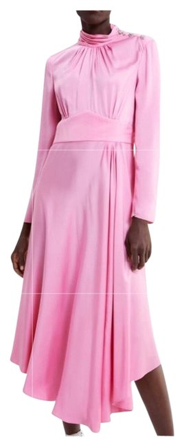 Preload https://img-static.tradesy.com/item/25600744/zara-pink-new-woman-with-gem-button-a-line-small-ref23907-long-night-out-dress-size-6-s-0-1-650-650.jpg