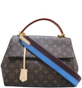 Louis Vuitton Lv Cluny Mm Monogran Canvas Satchel in BROWN