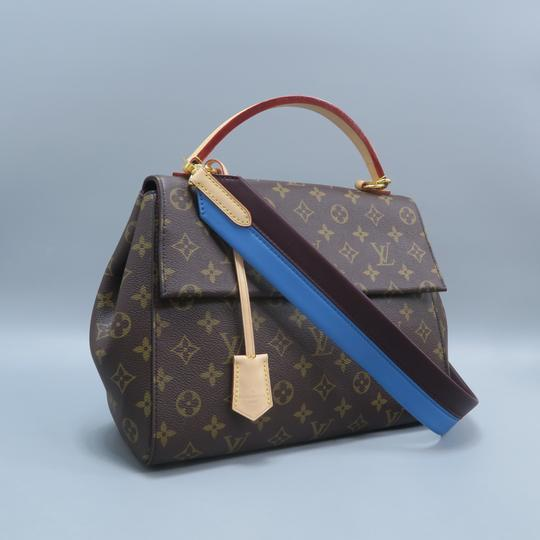 Louis Vuitton Lv Cluny Mm Monogran Canvas Satchel in BROWN Image 2