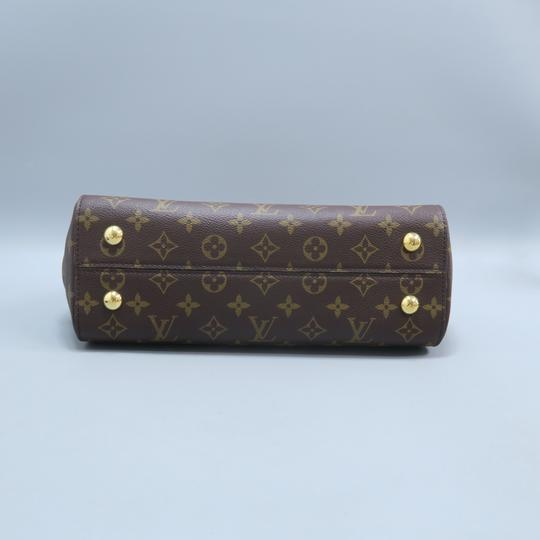 Louis Vuitton Lv Cluny Mm Monogran Canvas Satchel in BROWN Image 5