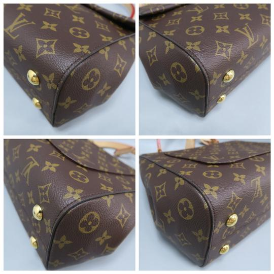 Louis Vuitton Lv Cluny Mm Monogran Canvas Satchel in BROWN Image 6