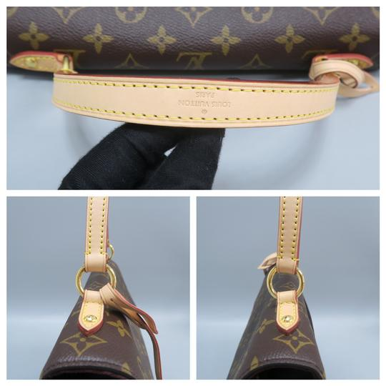 Louis Vuitton Lv Cluny Mm Monogran Canvas Satchel in BROWN Image 7