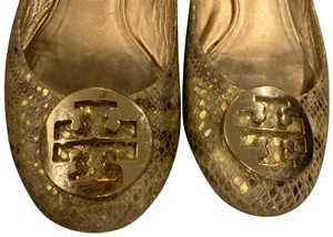 Tory Burch gold and yellow Flats