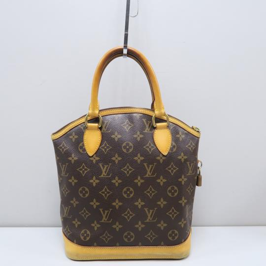 Louis Vuitton Lv Monogram Vertical Lockit Pm Tote in Brown Image 1