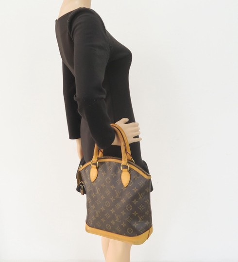 Louis Vuitton Lv Monogram Vertical Lockit Pm Tote in Brown Image 11