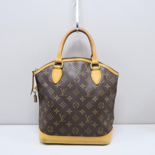 Louis Vuitton Lv Monogram Vertical Lockit Pm Tote in Brown Image 2