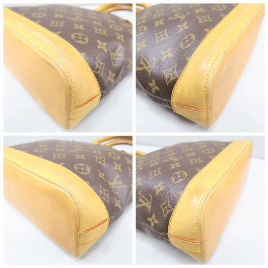Louis Vuitton Lv Monogram Vertical Lockit Pm Tote in Brown Image 4
