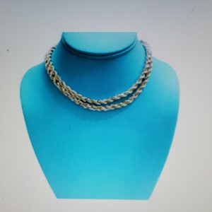 Tiffany & Co. Tiffany Silver/Gold Twisted Rope chain