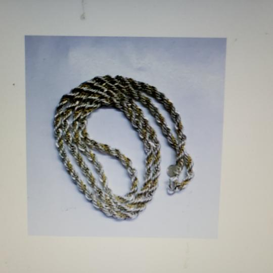 Tiffany & Co. Tiffany Silver/Gold Twisted Rope chain Image 4