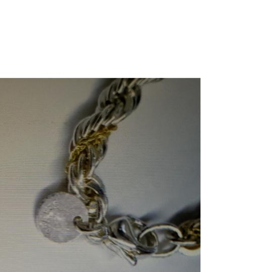Tiffany & Co. Tiffany Silver/Gold Twisted Rope chain Image 8