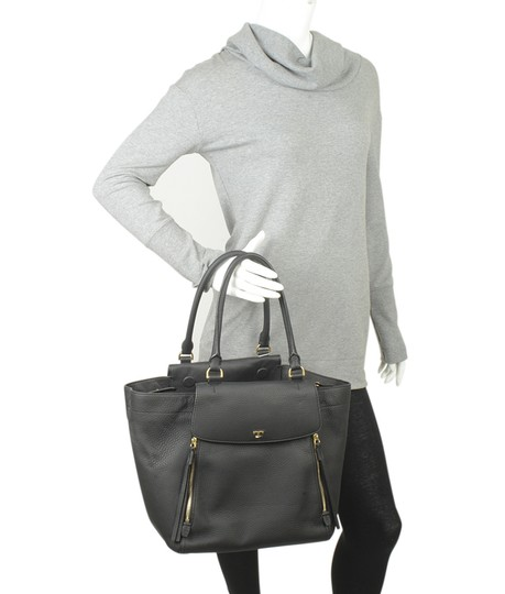 Tory Burch Leather Satchel in Black Image 1