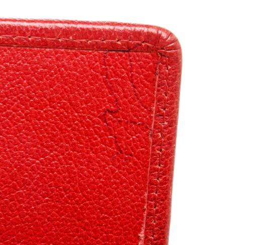 Chanel Chanel Red Leather Camelia CC Flap Long Wallet Image 6