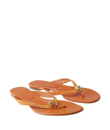 Alexander McQueen Leather Orange Sandals Image 1