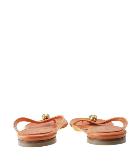 Alexander McQueen Leather Orange Sandals Image 5