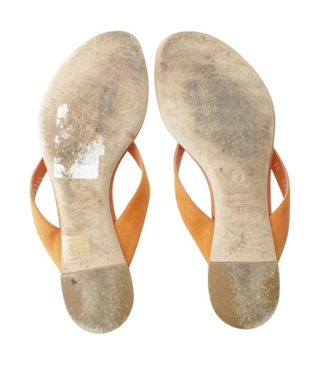 Alexander McQueen Leather Orange Sandals Image 6