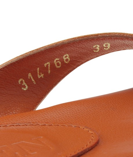 Alexander McQueen Leather Orange Sandals Image 7