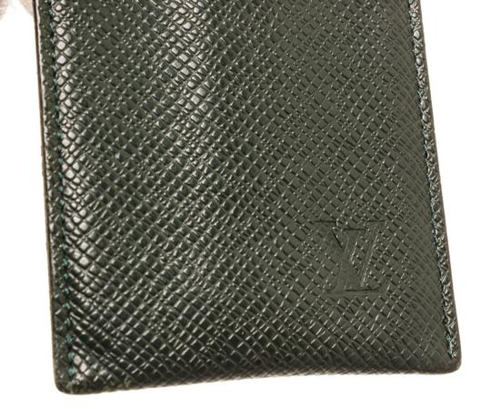 Louis Vuitton Louis Vuitton Green Taiga Leather Etui Card Holder Wallet Image 4