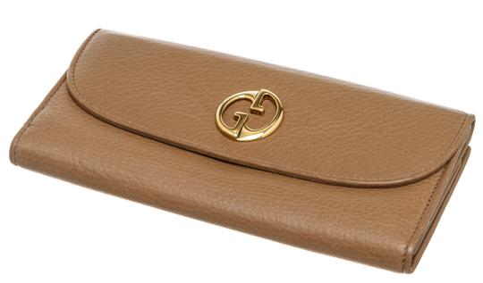 Gucci Gucci Brown Leather Vintage Long Wallet Image 2