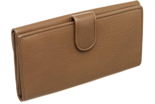 Gucci Gucci Brown Leather Vintage Long Wallet Image 3