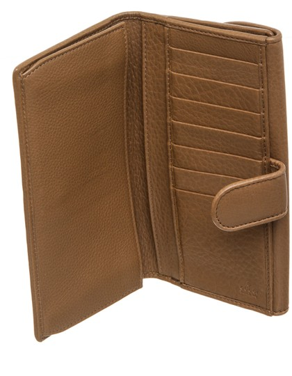 Gucci Gucci Brown Leather Vintage Long Wallet Image 4