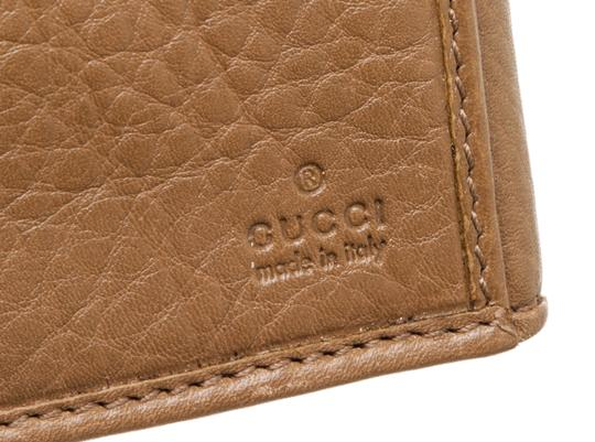 Gucci Gucci Brown Leather Vintage Long Wallet Image 5