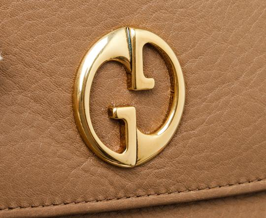 Gucci Gucci Brown Leather Vintage Long Wallet Image 6
