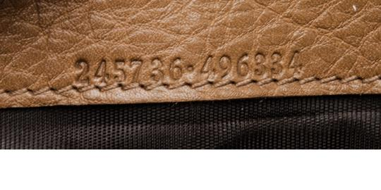Gucci Gucci Brown Leather Vintage Long Wallet Image 7