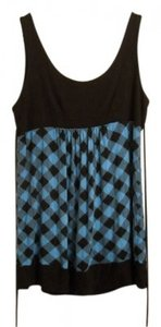 Forever 21 Top Black & Blue Plaid