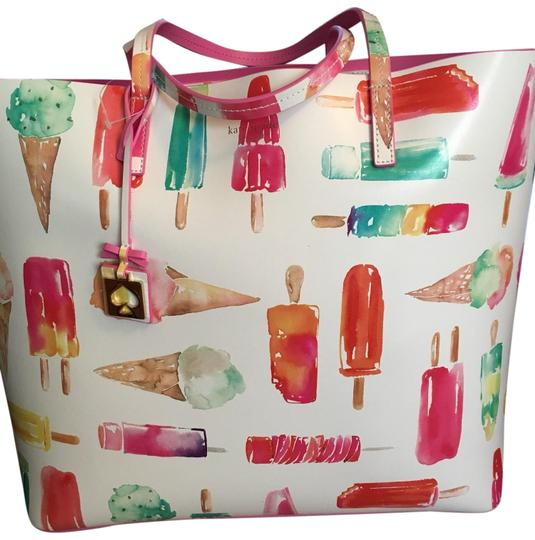 Preload https://img-static.tradesy.com/item/25601012/kate-spade-popsicle-flavor-of-the-month-multicolor-leather-tote-0-1-540-540.jpg