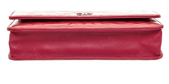Chanel Chanel Pink Patent Leather Camellia Wallet On Chain WOC Bag Image 4