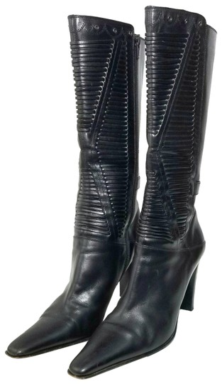Preload https://img-static.tradesy.com/item/25601312/via-spiga-black-leather-mid-calf-with-rivets-and-cutout-leather-strips-bootsbooties-size-us-105-regu-0-1-540-540.jpg