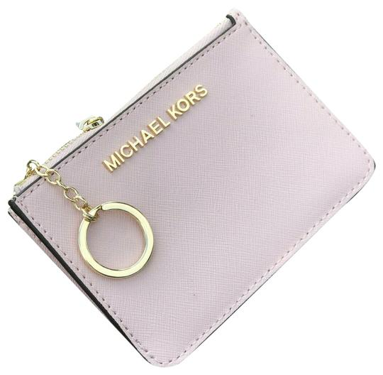 Preload https://img-static.tradesy.com/item/25601383/michael-kors-coin-pouch-wallet-card-id-case-key-chain-holder-blossom-leather-wristlet-0-1-540-540.jpg