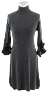 MILLY Turtle Neck Bell Sleeve Cashmere 3/4 Sleeve Sweater