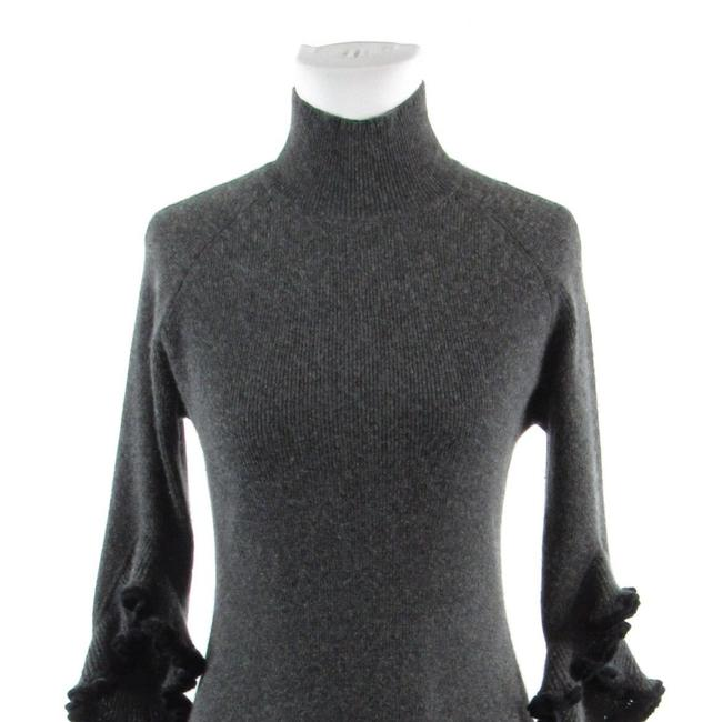 MILLY Turtle Neck Bell Sleeve Cashmere 3/4 Sleeve Sweater Image 1