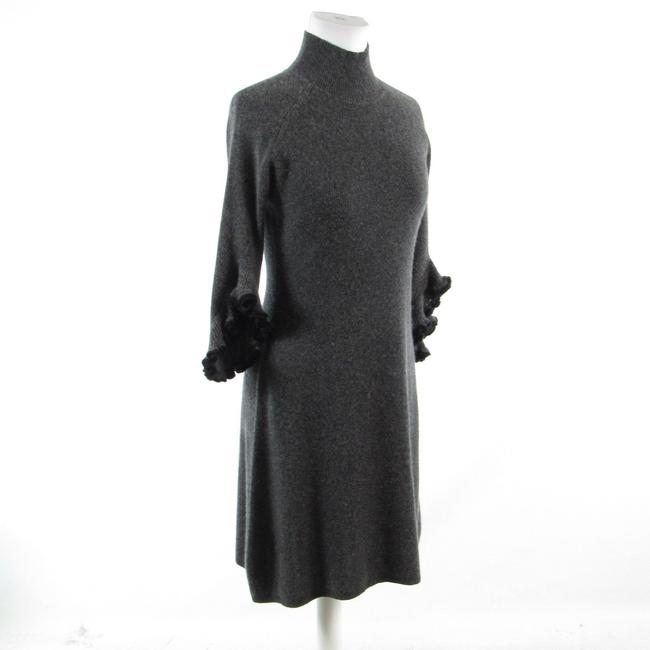 MILLY Turtle Neck Bell Sleeve Cashmere 3/4 Sleeve Sweater Image 2