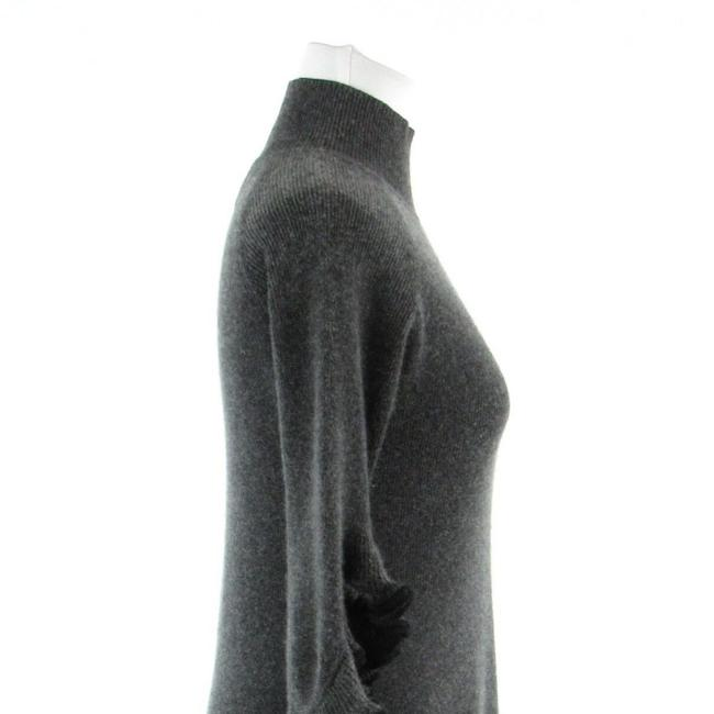 MILLY Turtle Neck Bell Sleeve Cashmere 3/4 Sleeve Sweater Image 4