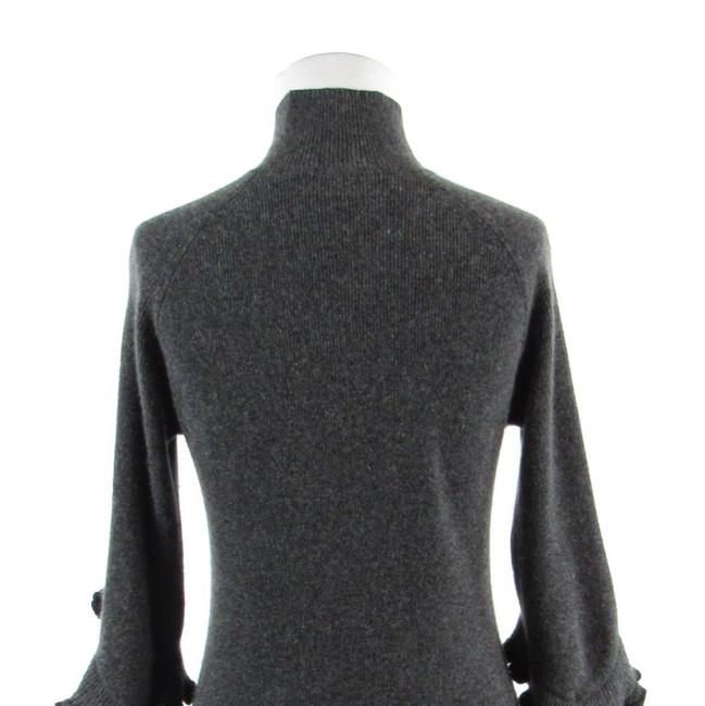 MILLY Turtle Neck Bell Sleeve Cashmere 3/4 Sleeve Sweater Image 6