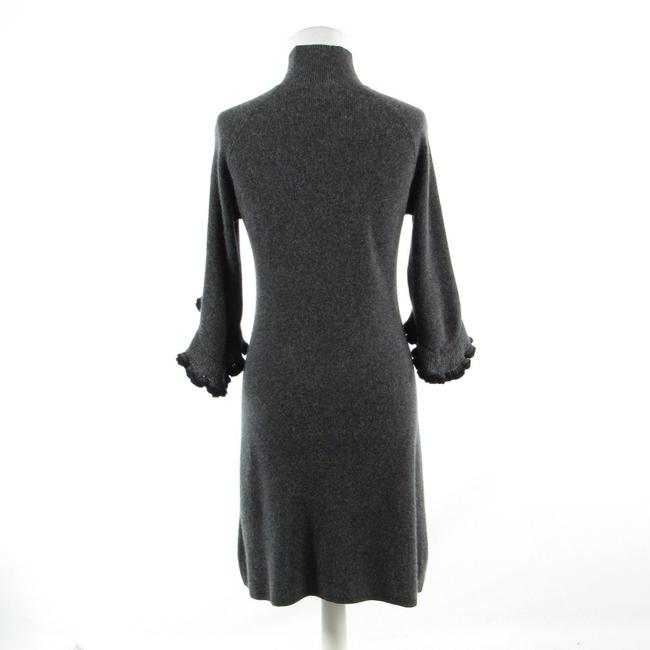 MILLY Turtle Neck Bell Sleeve Cashmere 3/4 Sleeve Sweater Image 7