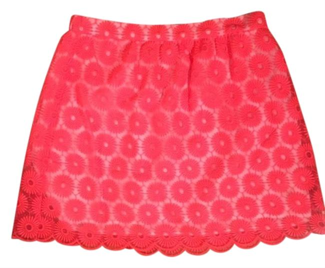 Preload https://img-static.tradesy.com/item/25601426/lilly-pulitzer-coral-sheer-floral-skirt-size-8-m-29-30-0-1-650-650.jpg